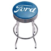 Ford Chrome Ribbed Bar Stool - Ford Genuine Parts (886511971622)
