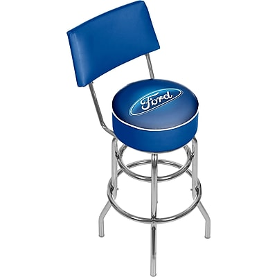 Ford Swivel Bar Stool with Back -