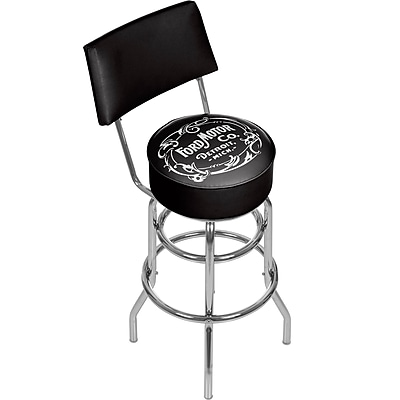 Ford Swivel Bar Stool with Back - Vintage 1903 Ford Motor Co. (886511971738)