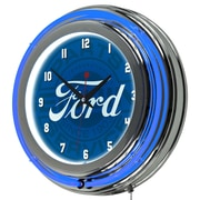 Ford Chrome Double Rung Neon Clock - Ford Genuine Parts (886511971813)
