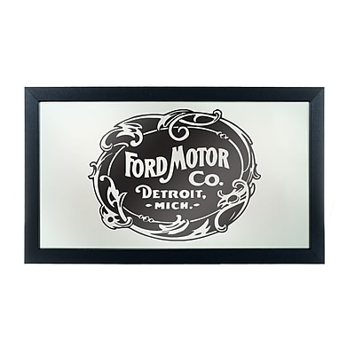 Ford Framed Logo Mirror - Vintage 1903 Ford Motor Co. (886511971844)