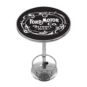 Ford Chrome Pub Table - Vintage 1903 Ford Motor Co. (886511971905)