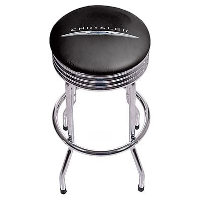 Chrysler Single Ring Ribbed Stool - Chrome (886511977778)