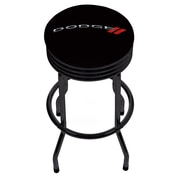 Dodge Single Ring Ribbed Stool - Black (886511977655)
