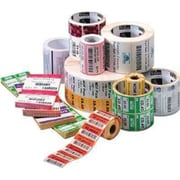 """Zebra® Z-Perform 2000D Permanent Adhesive Direct Thermal Label, 2 1/4"""" x 1 1/4"""", Bright White, 8 Rolls/Pack (10000297)"""