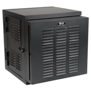 Tripp Lite SmartRack 12U Wall Mount Switch-Depth Rack Enclosure Cabinet, Black (SRW12USNEMA)