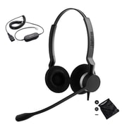 Jabra® Biz™ 2300 230982-88011-119 Duo Corded Headset with Bag & Leather Cushion