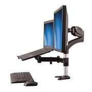 "StarTech.com® ARMUNONB 15"" - 27"" Monitor Mount with Articulating Arm and Laptop Riser"