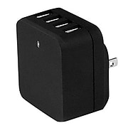 StarTech USB Wall Charger for Most Smartphones, Black (USB4PACBK)