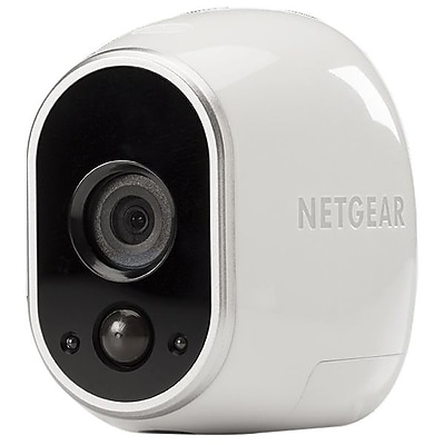 Image of Netgear Arlo Wire-Free VMC3030-100NAS Wireless Indoor/Outdoor Security Camera, Night Vision, White