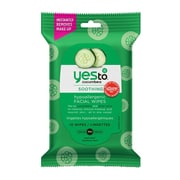 Yes To Cucumbers Hypoallergenic Facial Wipes, 10 Count 3 Pack - Travel Size