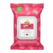 Yes to™ Hypoallergenic Facial Wipes, Grapefruit Rejuvenating, 25 Count, 3/Pack (6334107-3-KIT)