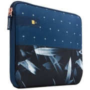 """Case Logic® HAYS111DARKPALM Hayes Polyester Sleeve for 11.6"""" Notebook, Blue"""