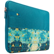 """Case Logic® HAYS115KALEIDOSCOPE Hayes Polyester Sleeve for 15.6"""" Notebook, Green, Blue, Pattern"""