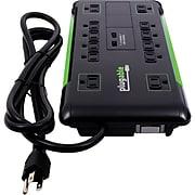 Plugable® PS12-USB2B 12-Outlet 4320 J Surge Suppressor, 6'
