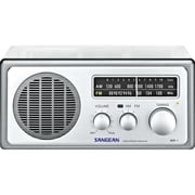 Sangean WR-1CL AM/FM Analog Top Radio, Clear