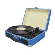 iLive™ ITTB476BU 3-Speed Record Suitcase Turntable, Blue