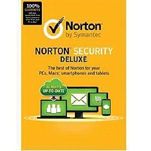 Symantec™ Norton Deluxe 3.0 Security Software, 5 PC, Windows/Mac/Android/iOS (21353874 )