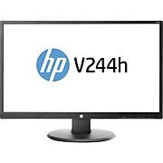 """HP V244h W1Y58A6#ABA 23.8"""" LCD Monitor, Black"""