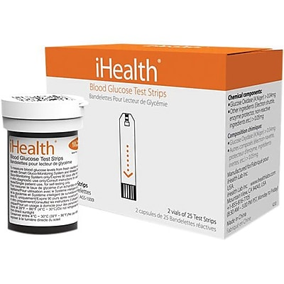 iHealth Lab Test Strip for Glucose Meters, 50/Pack (AGS-10001) IM11R1687