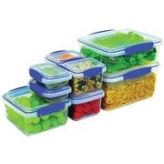 Sistema USA® Klip It™ 8 Piece Food Storage Container Set, Clear (1888)