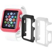 Trident - Étuis Odyssey Guard pour Apple Watch de 38 mm, noir/blanc/rose, 3/paquet (OD-APWG03-BWP00 )