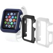 Trident – Étuis Odyssey Guard pour Apple Watch de 42 mm, noir/blanc/bleu, 3/paquet (OD-APWG04-BWL00)