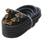 Steren 254-335bl Triple RCA Composite Video Cable (75ft)