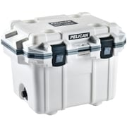PELICAN 30Q-1-WHTGRY 30-Quart Elite Cooler (White with Gray Trim)