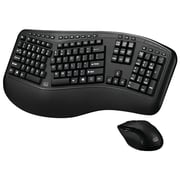Adesso WKB-1500GB Tru-Form Media 1500 Wireless Ergonomic Keyboard and Laser Mouse