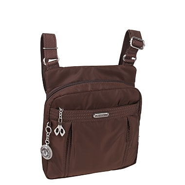 Beside-U - Sac en nylon Odile avec protection RFID, collection Cross, Brun (BCS91-Brun)