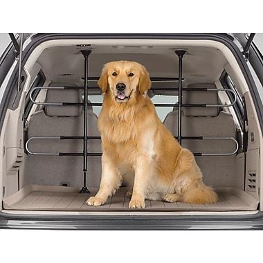 WeatherTech® – Barrière pour animaux de compagnie réglable pour voiture, VUS ou mini-fourgonnette, noir/chrome