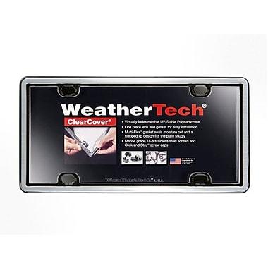 WeatherTech® – Cadre et couvre-plaque ClearCover® pour plaque d'immatriculation, acier inox brossé