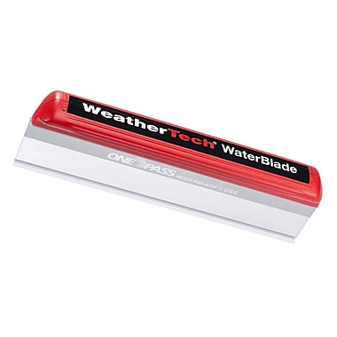 WeatherTech® – Lame de silicone WaterBlade pour essuyer l'eau, rouge et transparent