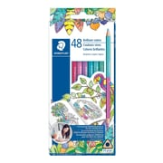Staedtler Double-Ended Coloured Pencils, 48 Assorted Colours, 24/Pack (1272C24BLU)