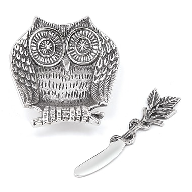Star Home Owl Dip Dish and Spreader (Set of 2)