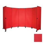 Versare Economical Portable Accordion Partition; Red