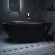 Aquatica Karolina 70.75'' x 35.5'' Soaking Bathtub; Black