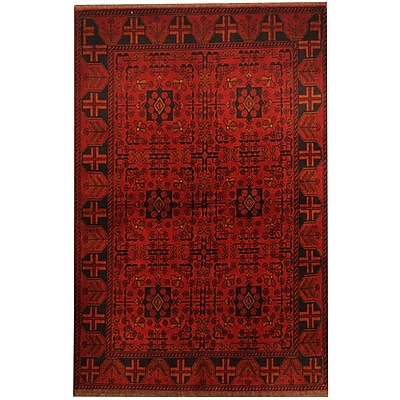 Herat Oriental Khal Mohammadi Hand-knotted Red Area Rug