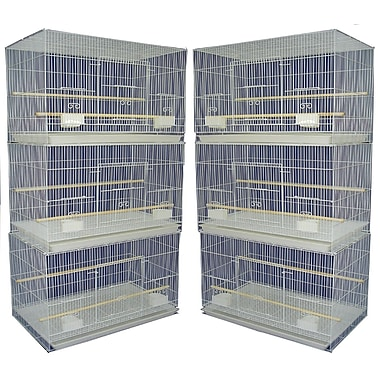 YML Lot of Six Small Bird Cage; White