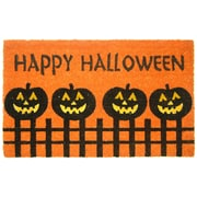 Geo Crafts Halloween Pumpkin Fence Doormat