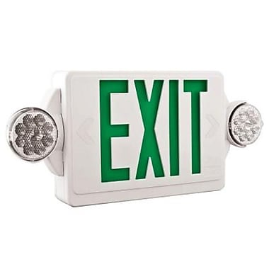 Lithonia Lighting Quantum Thermoplastic LED Emergency Exit Light and Lamp Combo