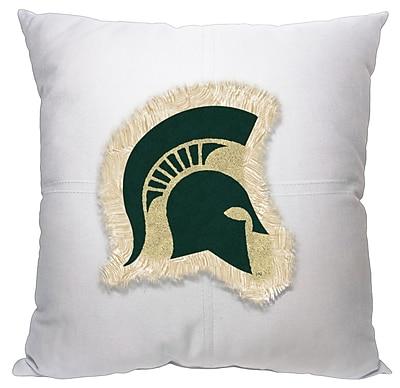 Northwest Co. Collegiate Michigan State Cotton Throw Pillow