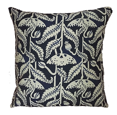 Collier Sun Poppy Throw Pillow; 19.5'' H x 19.5'' W
