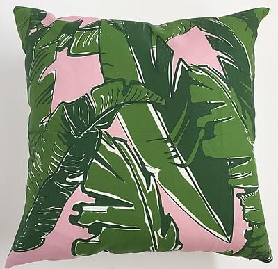 Collier Sun Banana Leaves Throw Pillow; 19.5'' H x 19.5'' W
