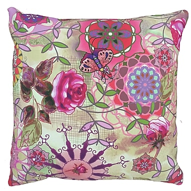 Collier Sun Fantasy Throw Pillow; 17.5'' H x 17.5'' W