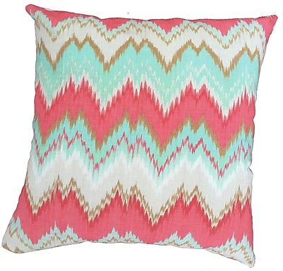 Collier Sun Chevron Throw Pillow; 17.5'' H x 17.5'' W
