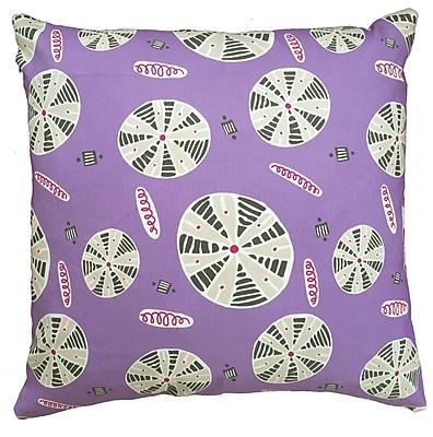 Collier Sun Urchin Throw Pillow; 17.5'' H x 17.5'' W