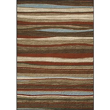 Dalyn Rug Co. Horizons Brown/Red Area Rug; 8'2'' x 10'