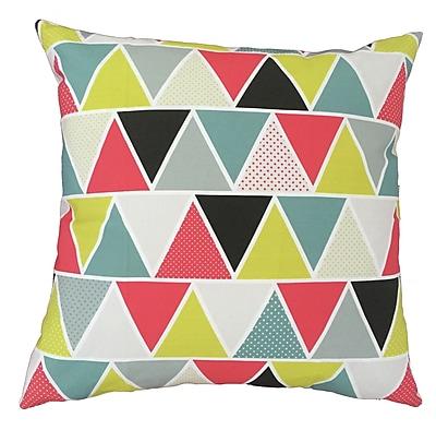 Collier Sun Mod Triangles Throw Pillow; 17.5'' H x 17.5'' W